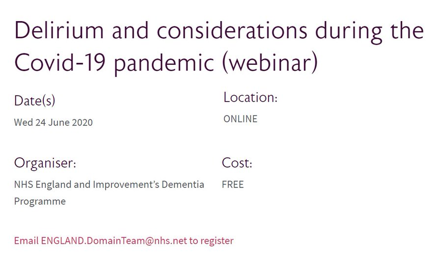 Delirium and considerations during the Covid-19 pandemic